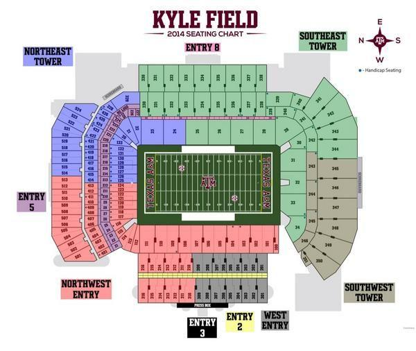 Kyle Field Seating Chart Theeagle Com