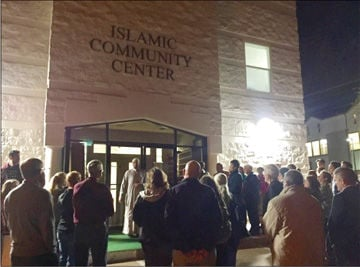 supporters turn out in solidarity with bryan college station muslims rh theeagle com