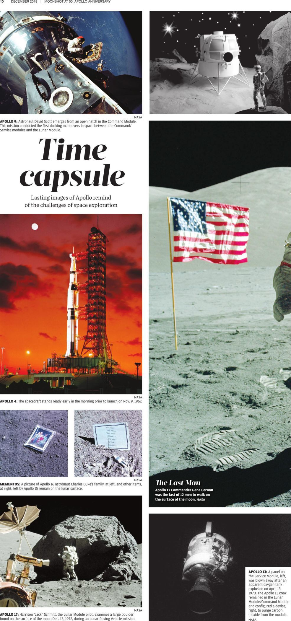 Iconic images from the moon