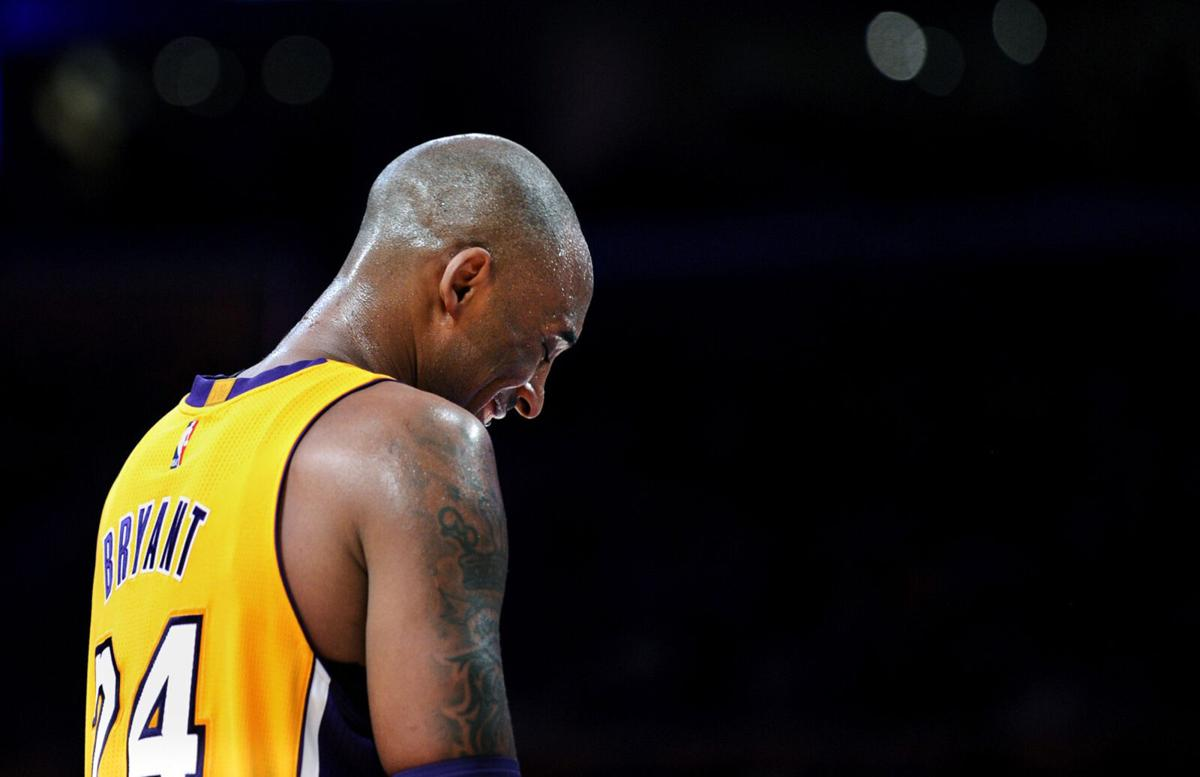 Lakers Kobe Bryant against the Jazz during the final game of his career at the Staples Center in 2016..