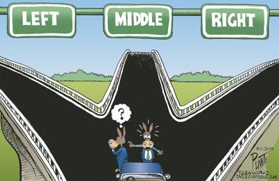 Bruce Plante Cartoon: Which way Dems?
