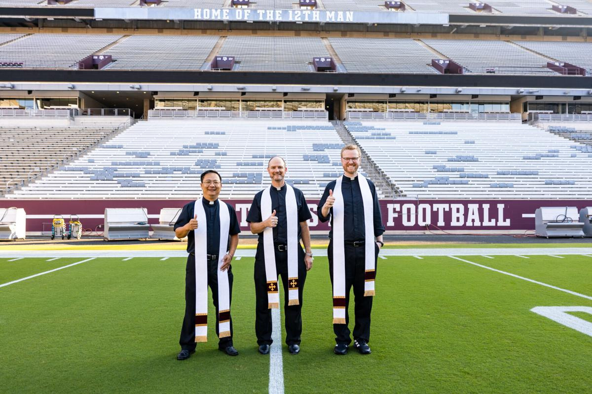 Catholic priests blessed Kyle Field before Alabama game