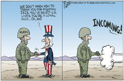 Bruce Plante Cartoon: Thank you, Kurds