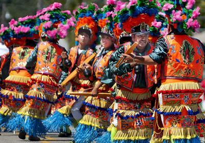 A colorful parade