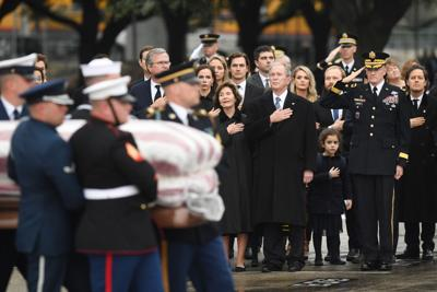 President George H W Bush Is Laid To Rest At His Library At Texas