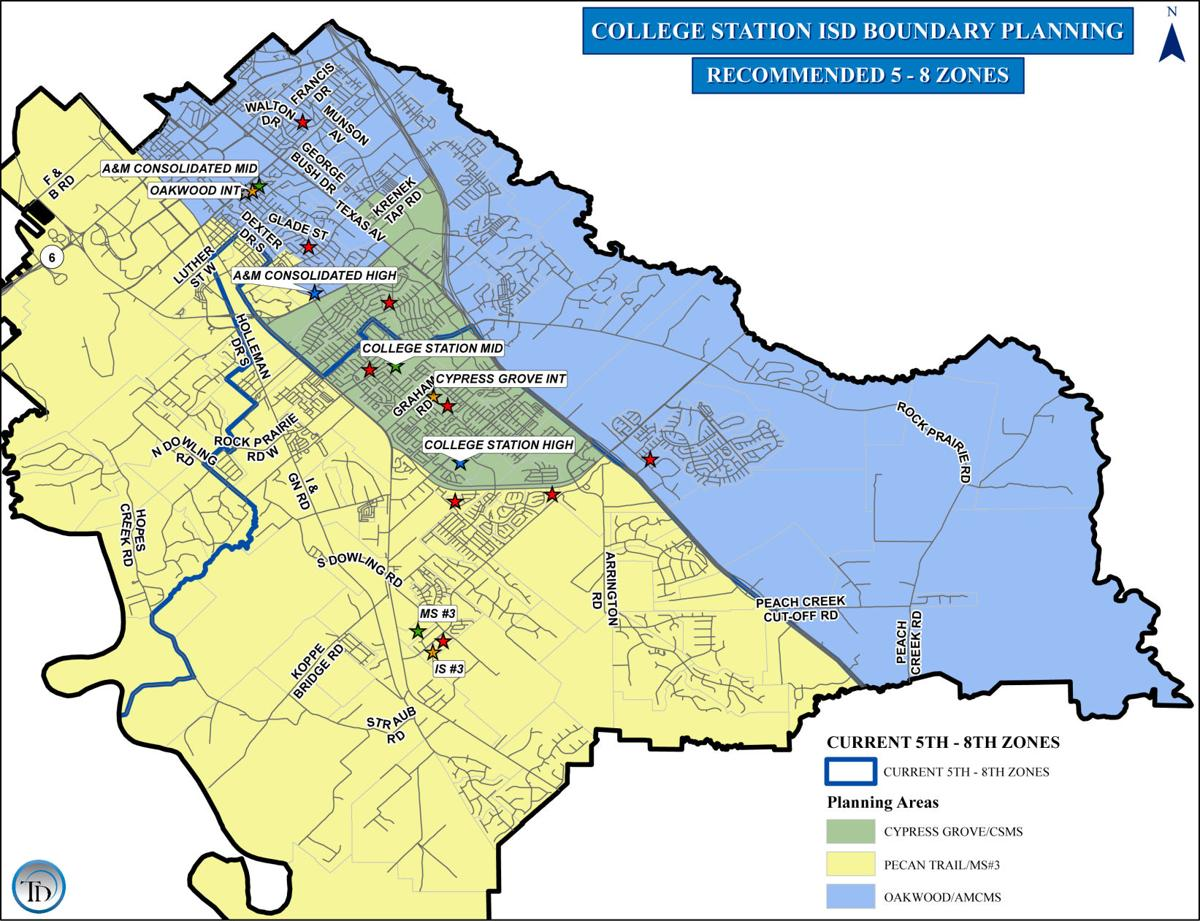 Map Of Texas High Schools.College Station Schools Attendance Boundary Line Recommendations