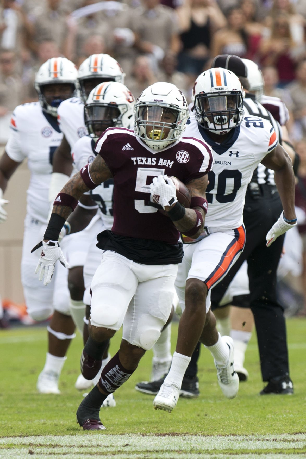 Robert Cessna grades the Aggies Up and down performance against Auburn receives average marks Aggie Sports