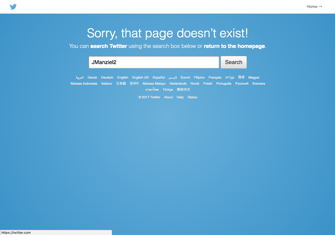 Johnny Manziel's Twitter page unavailable after tweets to President Trump