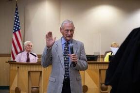 Bob Brick sworn in