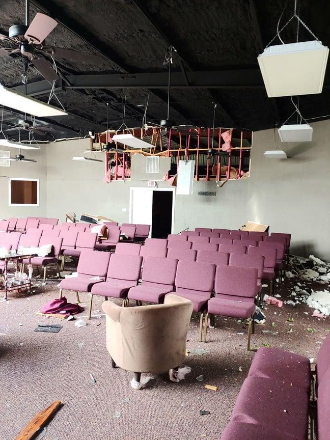 Franklin churches hit hard by tornado