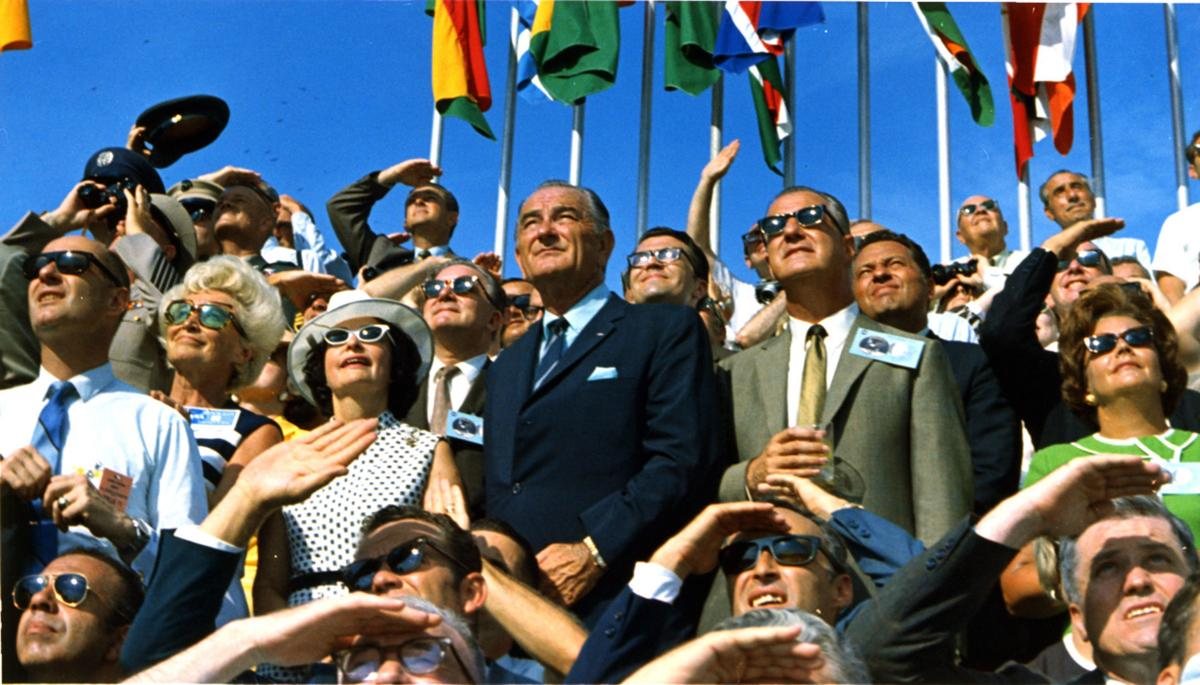What's better than a TV shot of Apollo 11? The looks on the faces back home