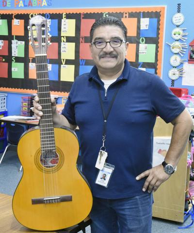Johnson Elementary teacher Jaime Mosqueda