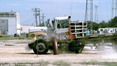 Texas A&M barrier crash test