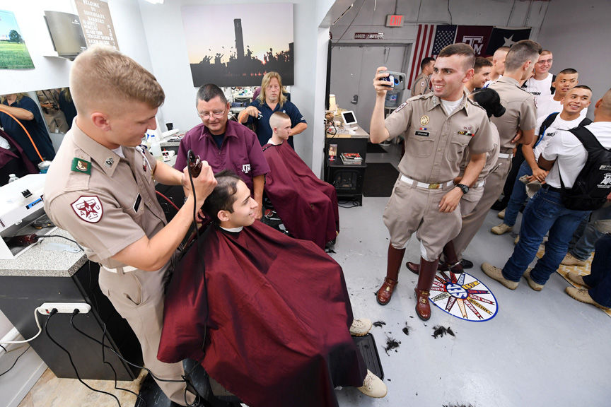 Corps Of Cadets Freshmen Get Traditional Fish Cuts Local News