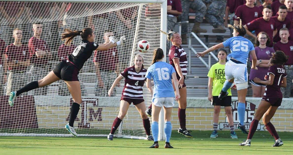 Morche handling smaller but more pressure-filled workload as Aggie goalkeeper