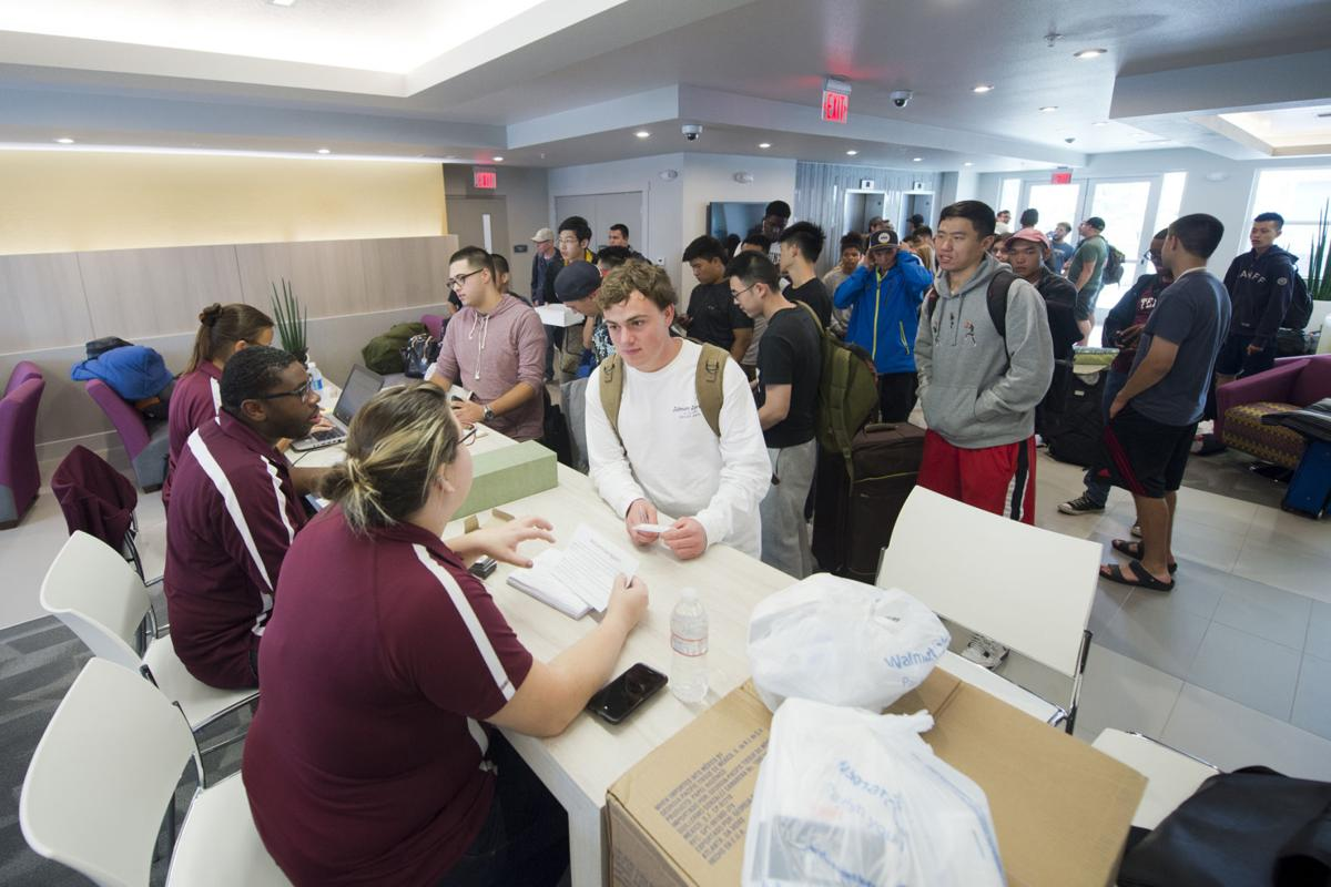 Texas A&M Galveston students check in