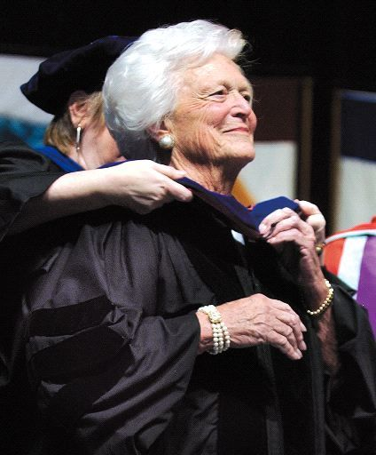 Bush encourages A&M grads to maintain strong values