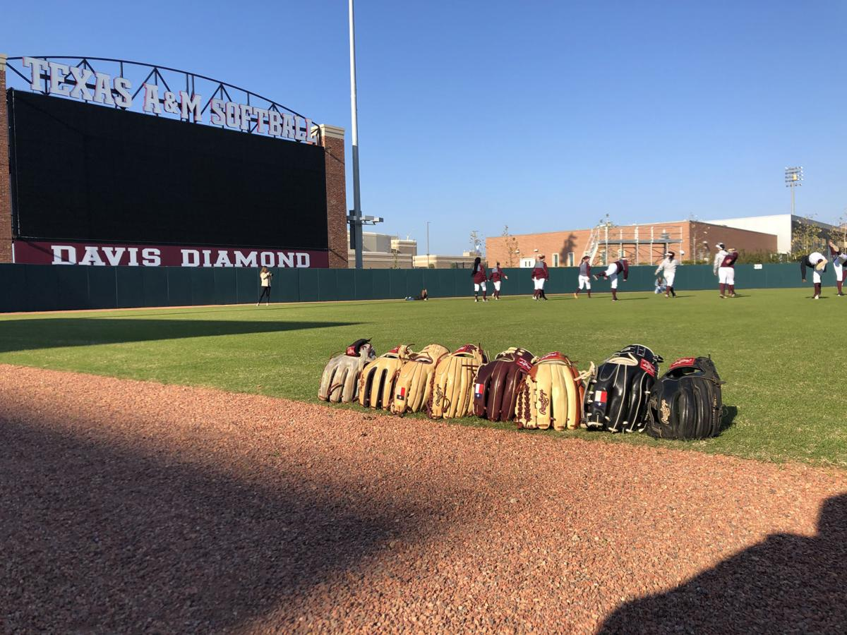 Texas A&M softball practice