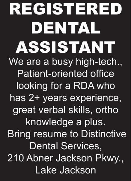 Registered Dental Assistant Needed