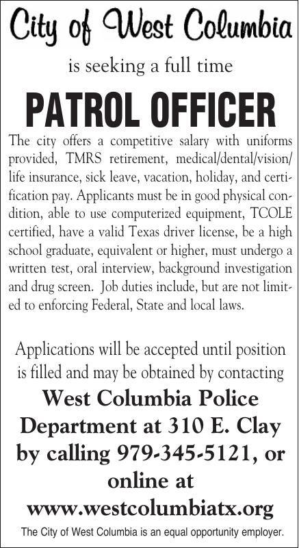 West Columbia Hiring Patrol Officer
