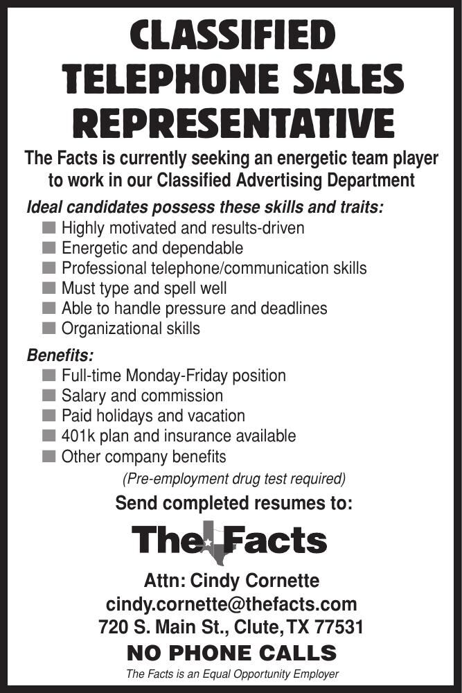 Facts Hiring Classified Representative