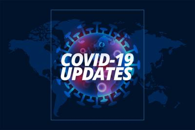 covid-19 updates background with virus cell template