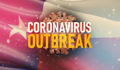 Coronavirus COVID-19 Texas flag