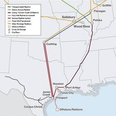 Texas COLT map