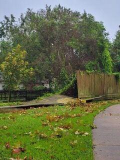 Fallen Fences - Hurricane Nicholas