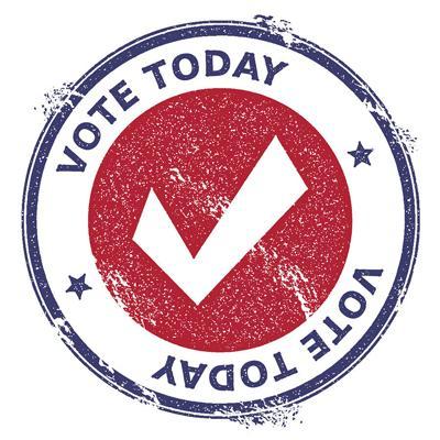 Election patriotic seal