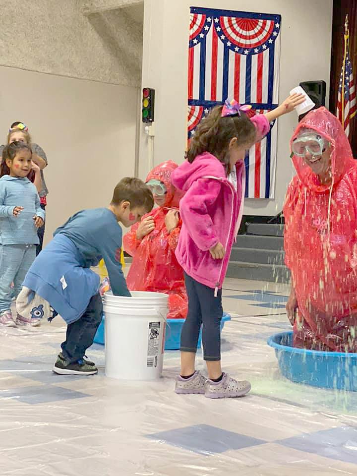 Polk teachers slimed