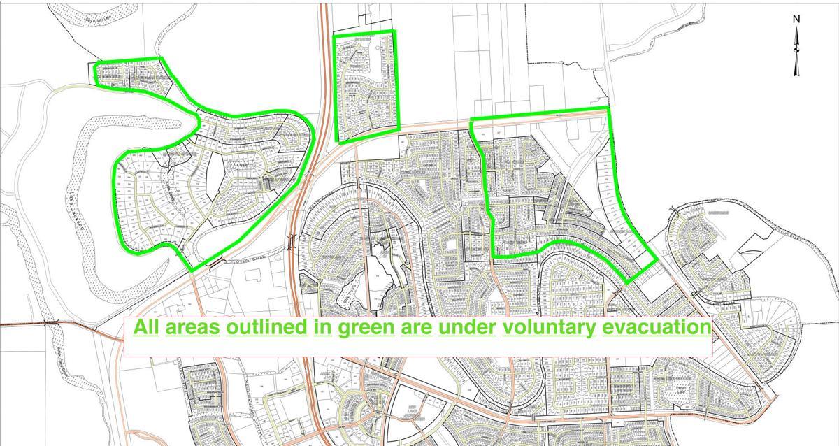 Updated evacuation map