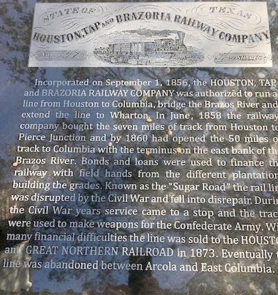 A new historical marker installed at Brazoria Heritage Foundation