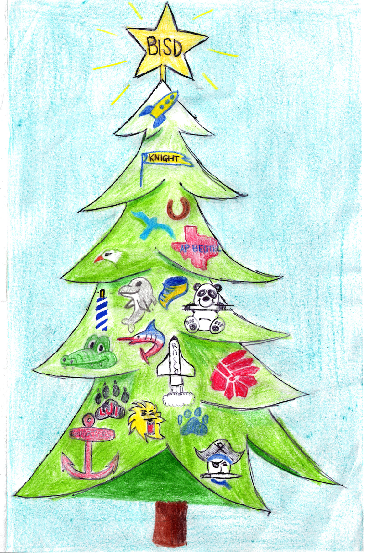 When Is Christmas Day Vacation Bisd 2020 BISD Student Artwork Selected for District Christmas Card | Brazos