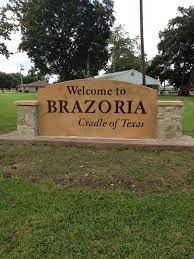 Brazoria entrance sign