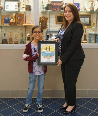 Port Freeport awards Take-A-Child Fishing tournament logo drawing contest winner