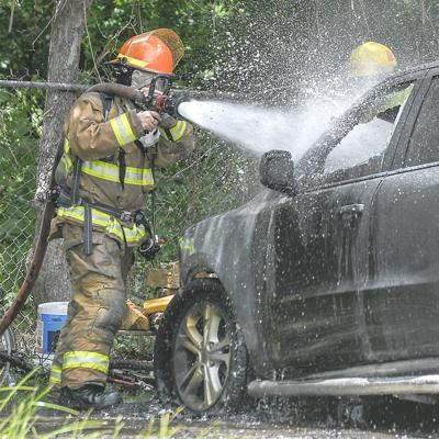 Clute Car Fire