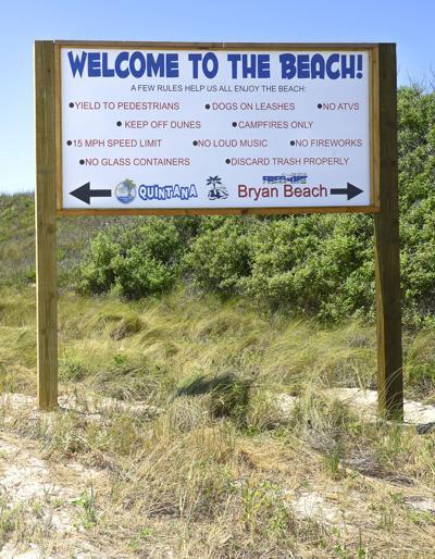 Bryan Beach sign