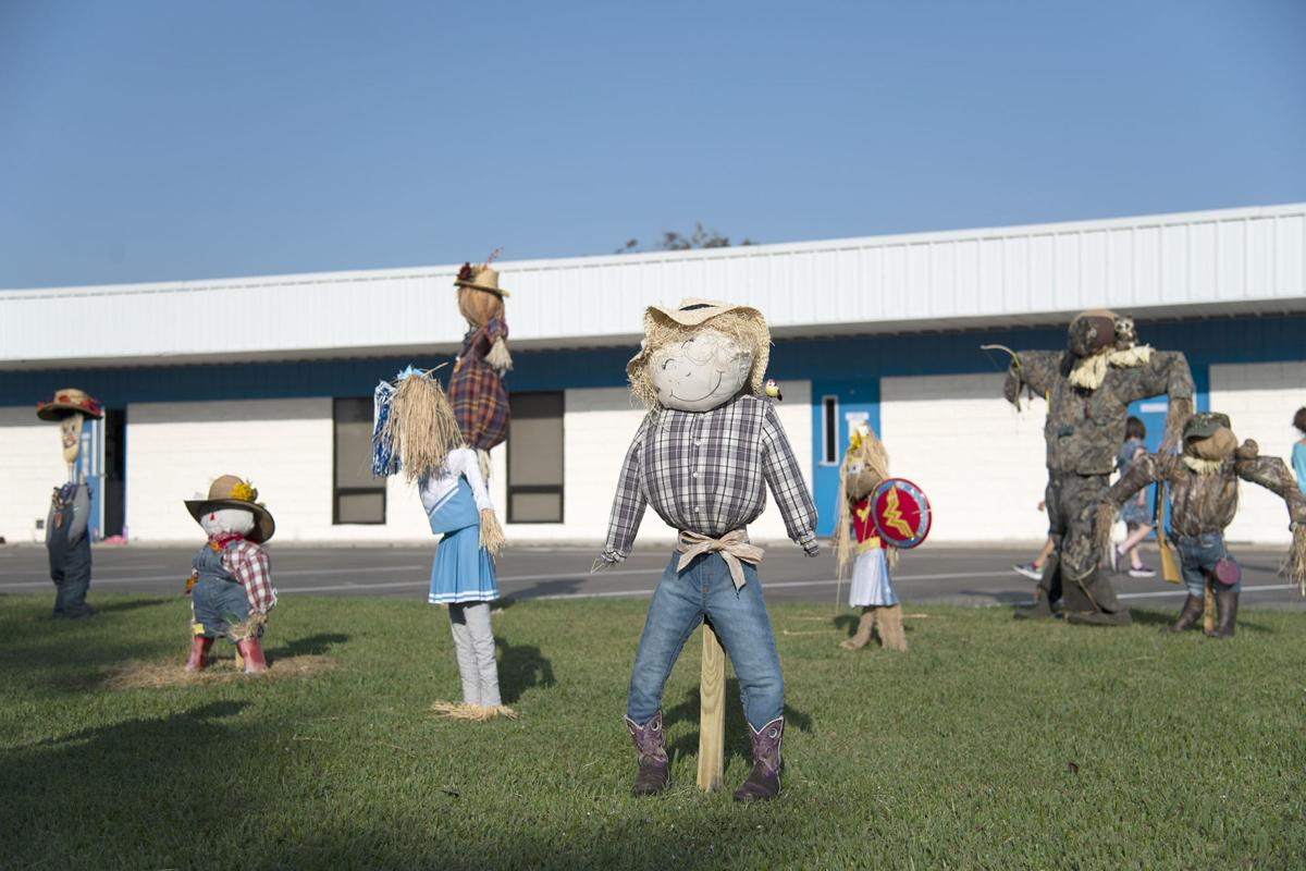 Sweeny Christian School scarecrow competition