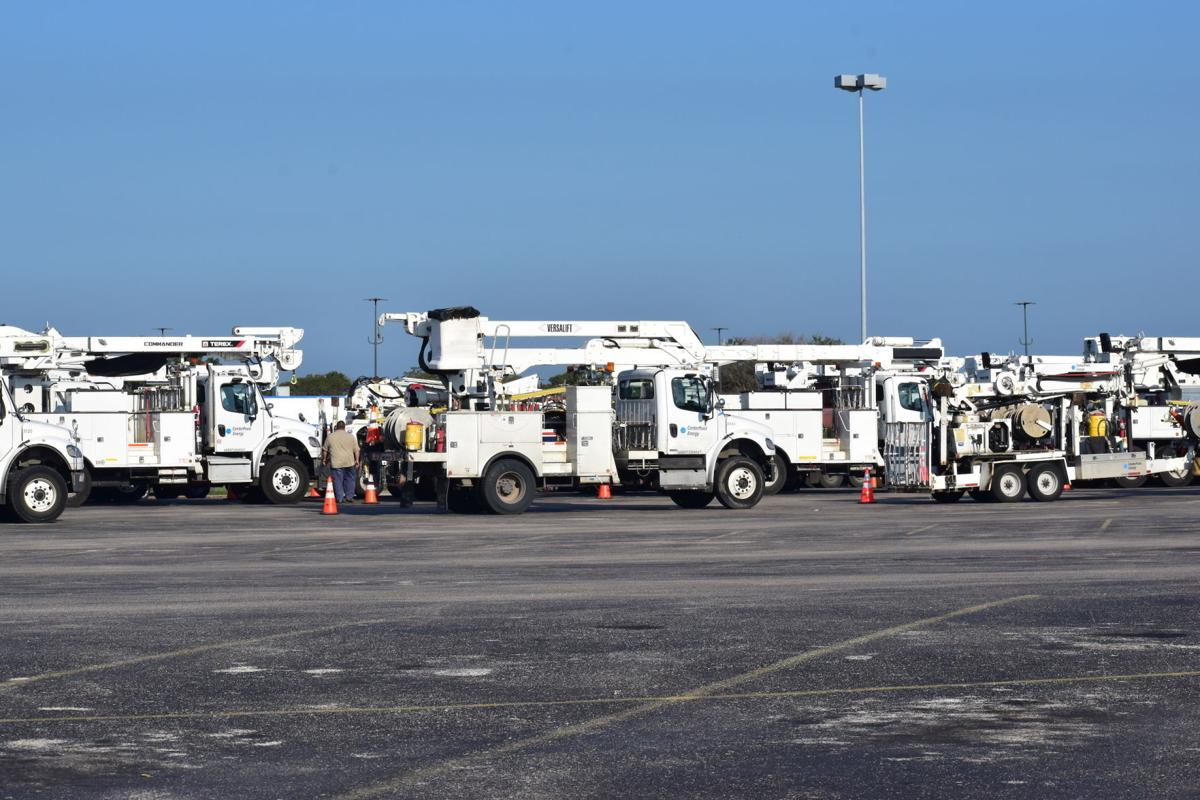 CenterPoint Energy truck staging