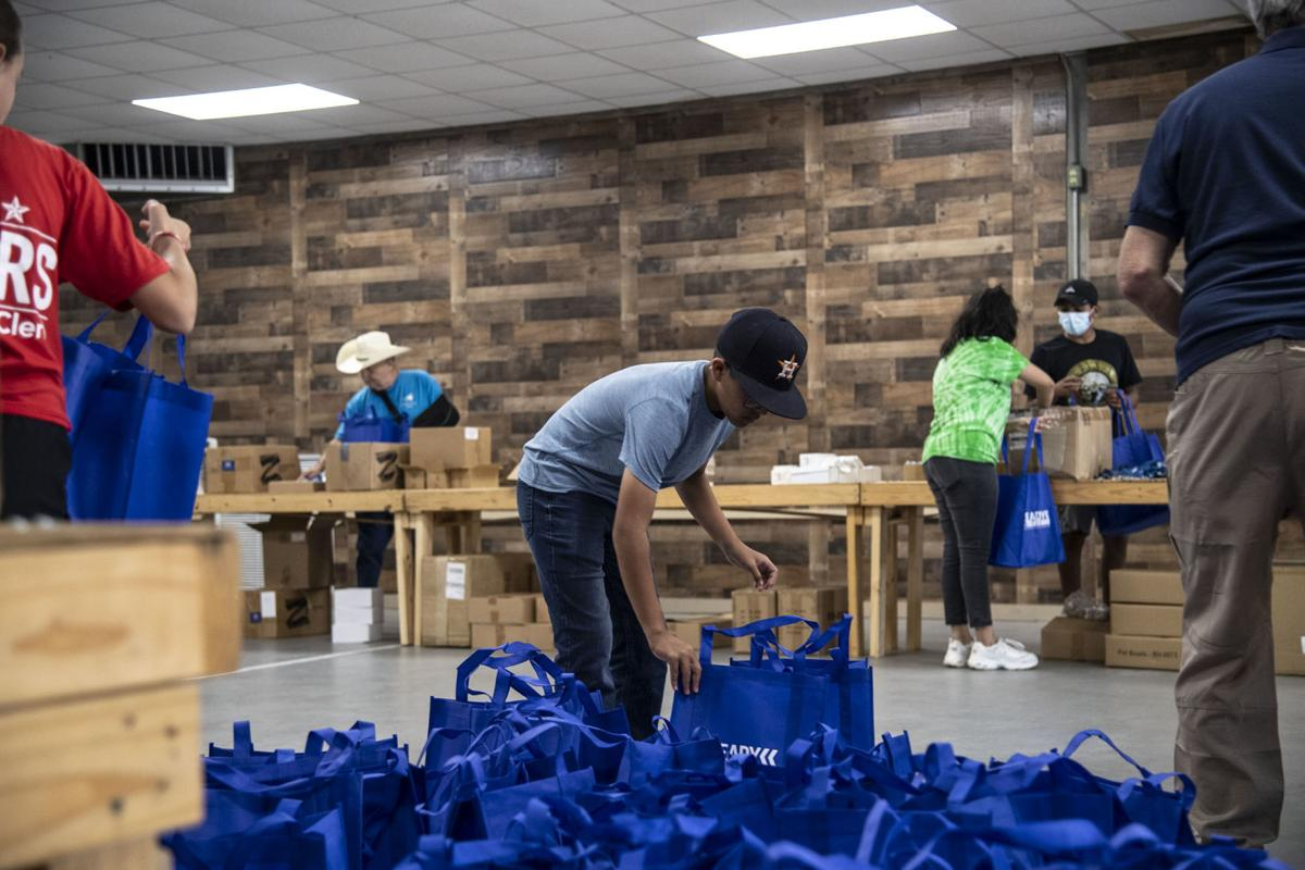 Blue bag stuffing for disasters