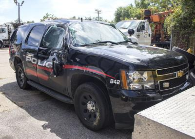 Clute PD Cruiser wrecked