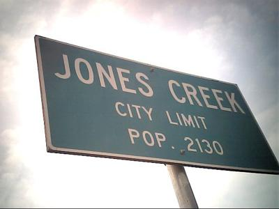 Jones Creek sign