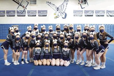 Cactus Shadows High School's cheer squad