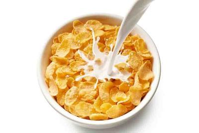 corn flakes with milk