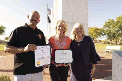Chuck Hale, Allison Vahle and Debbie Lesko