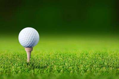 7975792 - close up with a golf ball