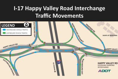 Happy Valley Road bridge over I-17