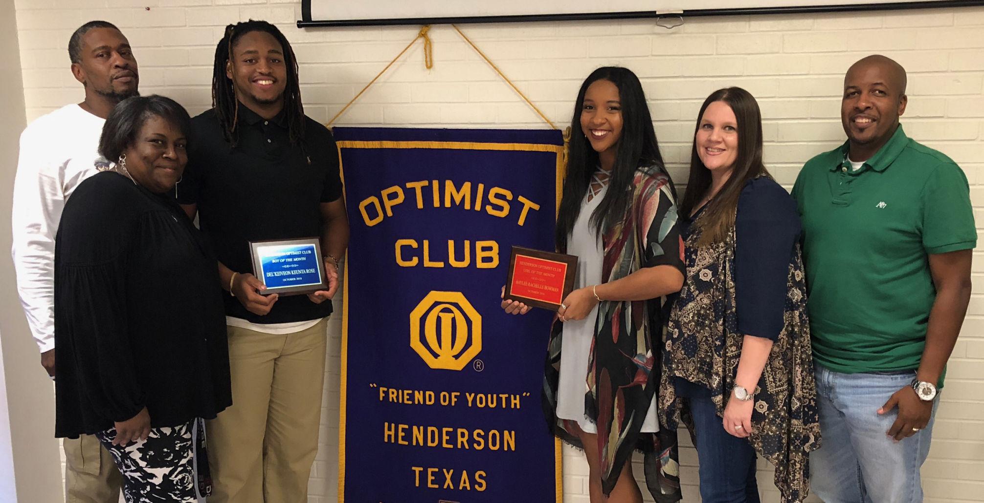 Bowman, Rose named Optimist Girl, Boy of the Month   Henderson Daily News
