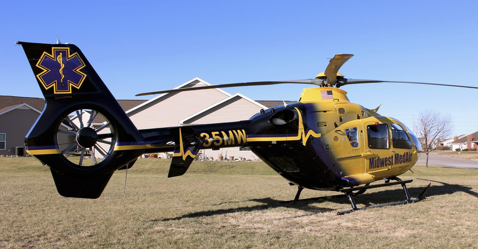 Midwest Medical Transport has a Eurocopter EC135